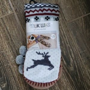 Muk Luks Tasseled Slipper Socks